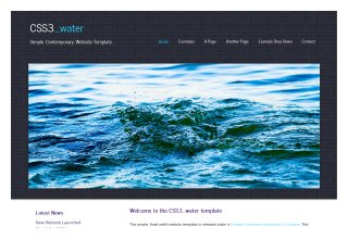 CSS3 water