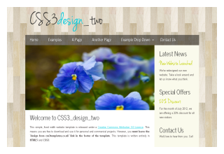CSS3 design two